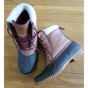 Tommy Hilfiger Russel Brown Women Rain Duck Boots